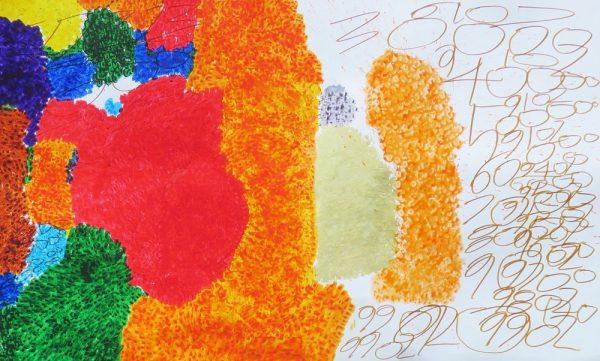 色と数字の爆発